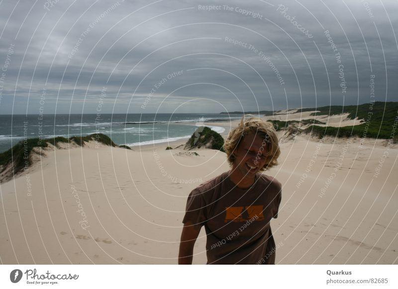 Ocean Joy Beach Clouds Sand Waves Coast Multiple Beach dune Well-being Surf Beige Cover Lemonade Bad weather Sandbank