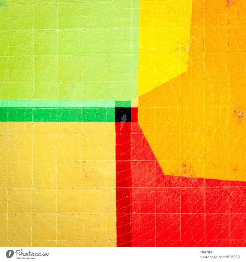 polygon Wall (barrier) Wall (building) Stone Line Stripe Cool (slang) Hip & trendy Uniqueness Yellow Green Red Black Colour Double exposure Background picture
