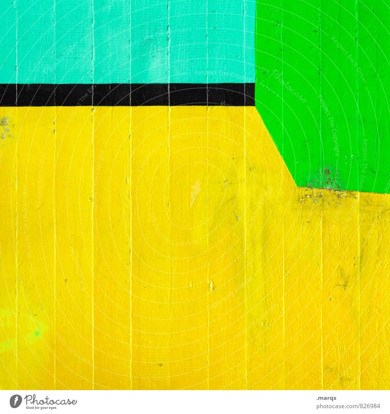 Green Colour Yellow Wall (building) Wall (barrier) Style Exceptional Line Lifestyle Arrangement Elegant Design Modern Esthetic Simple Illustration