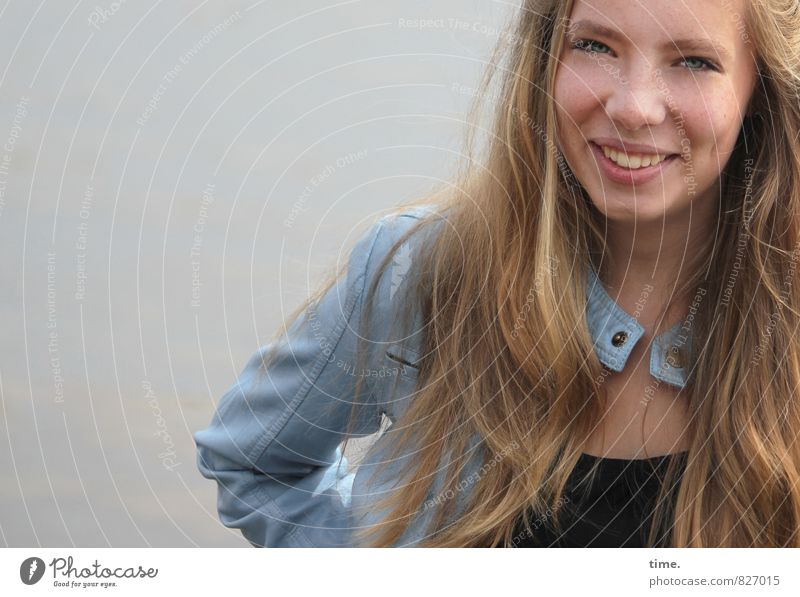 Human being Beautiful Joy Life Emotions Feminine Happy Laughter Contentment Blonde Happiness Smiling Joie de vivre (Vitality) Friendliness Athletic Jacket