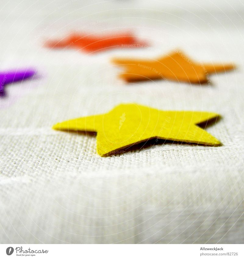 Red Joy Yellow Orange Birthday Table Star (Symbol) Decoration Things Blanket Absurdity Wonder Table decoration