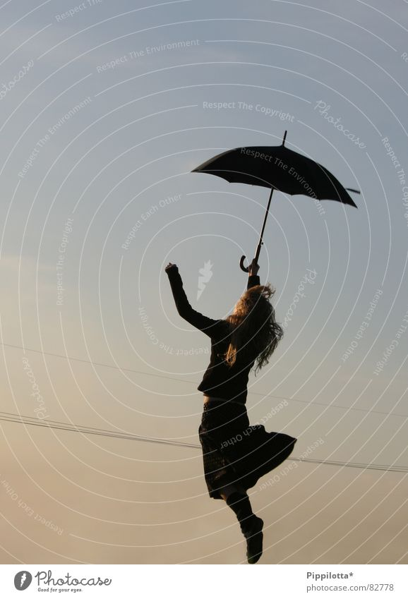 Woman Child Sky Girl Summer Joy Life Emotions Freedom Movement Happy Air Wind Open Going Flying