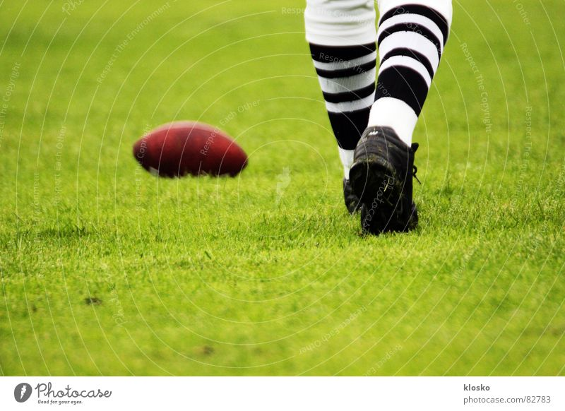 football American Football Extreme Sports Playing Footwear Green Stockings Success Calm Attack Leather Extreme sports Power Egg Lawn Ball Legs yard