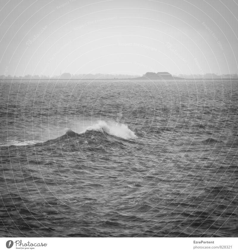 Sky Nature Vacation & Travel White Water Ocean Landscape Far-off places Black Dark Environment Movement Coast Freedom Horizon Air