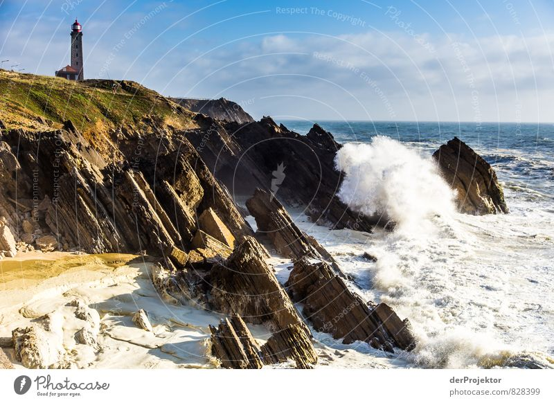 Lighthouse in Sao Pedro de Muel in Portugal with Megawave Vacation & Travel Tourism Trip Freedom Summer Summer vacation Environment Nature Landscape Elements