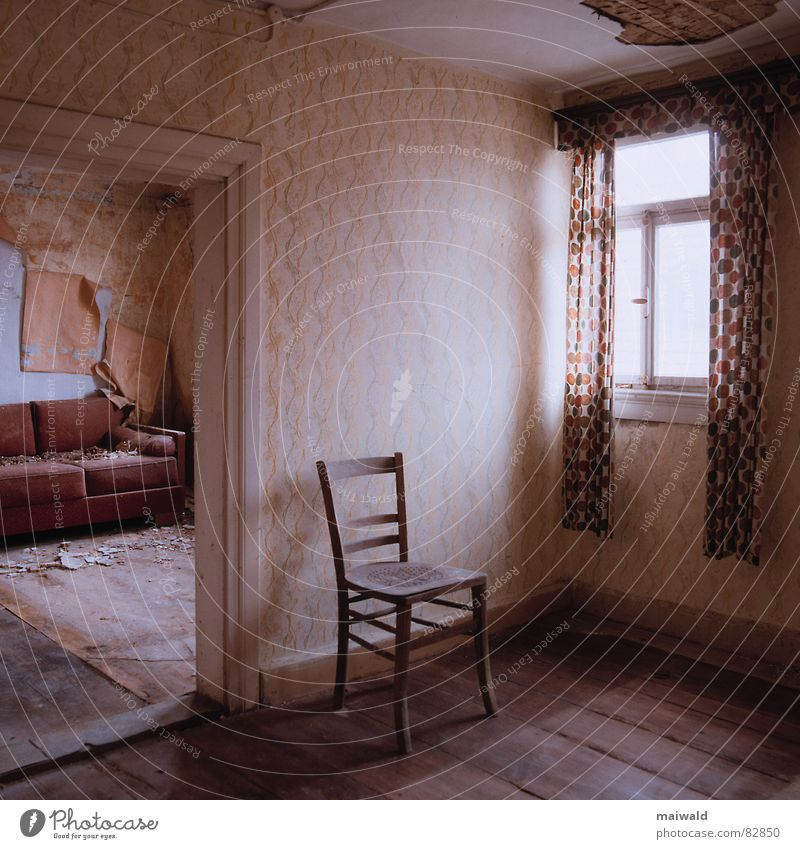 Old Loneliness House (Residential Structure) Window Wall (building) Wood Wall (barrier) Building Brown Door Room Time Dirty Flat (apartment) Interior design