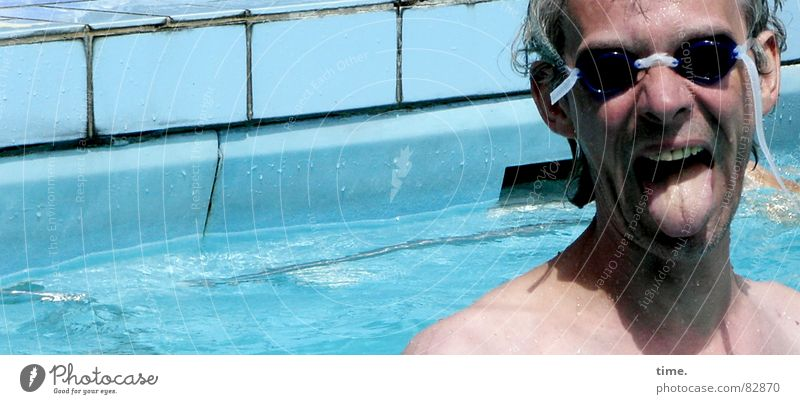 Man Blue Water Summer Joy Face Adults Cold Sports Playing Gray Swimming & Bathing Wet Nose Fresh Cool (slang)