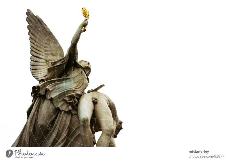 Sky Berlin Angel Statue God Deities Dramatic Virgin Mary Germany