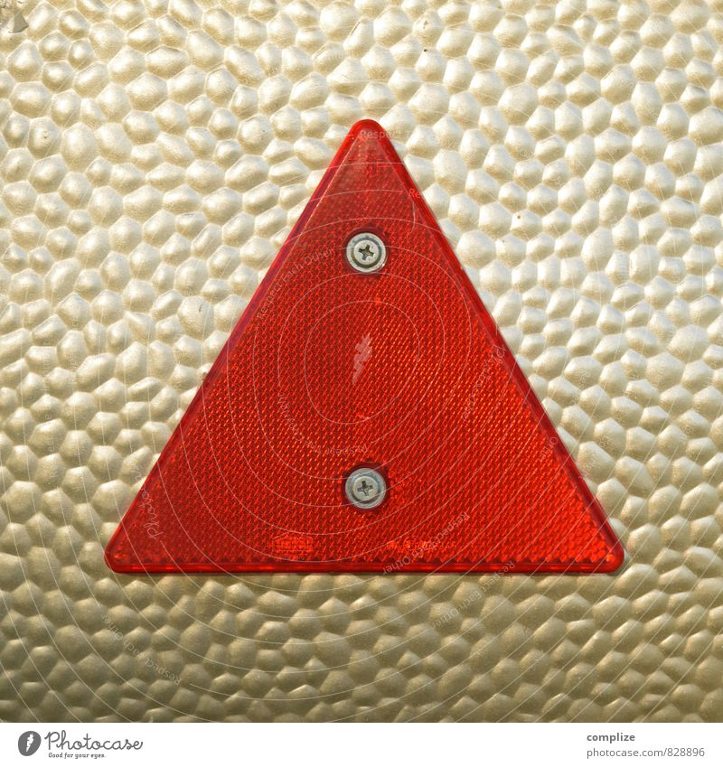 Vacation & Travel Red Far-off places Freedom Gold Transport Trip Camping Triangle Caravan Mobile home Reflector
