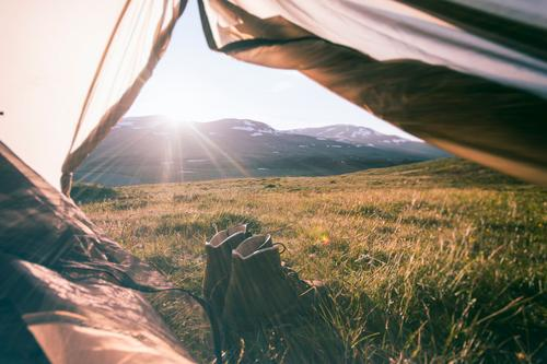 Vacation & Travel Summer Relaxation Calm Far-off places Mountain Meadow Freedom Healthy Contentment Footwear Tourism Hiking Trip Adventure Peak