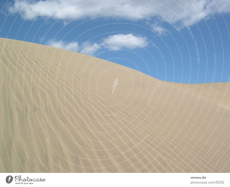 Sky Blue Sand Europe Desert Spain Beach dune Furrow Beige Canaries Gran Canaria