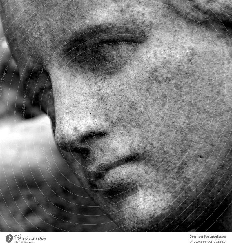 Woman Face Calm Black Life Feminine Death Stone Sadness Perspective Grief Image Transience Lady Statue Monument