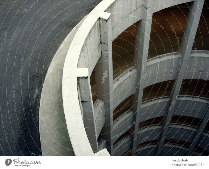 City Street Architecture Gray Tall Concrete Transport Dangerous Break Gloomy Circle Threat Round Simple Clean Clarity
