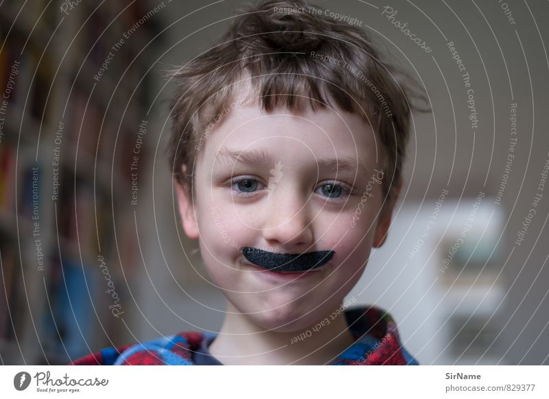 265 [Mischievous new edition] Playing Children's game Dress up Actor Boy (child) Infancy Facial hair 1 Human being 3 - 8 years Culture Cinema Moustache Smiling