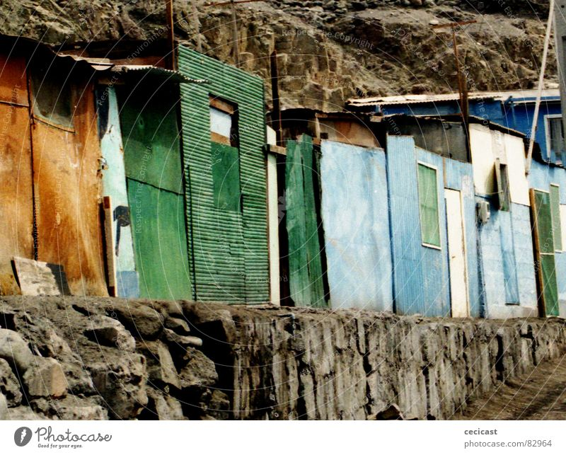 color line Wood flour Insolvency House (Residential Structure) South America abandonment colours stones rocks poor street desert Houses