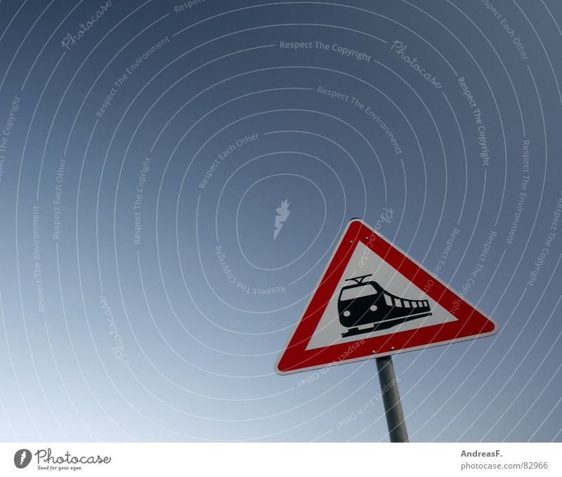 Sky Vacation & Travel Germany Road traffic Signs and labeling Transport Railroad Dangerous Driving Logistics Tourism Threat Clarity Railroad tracks Underground Train station