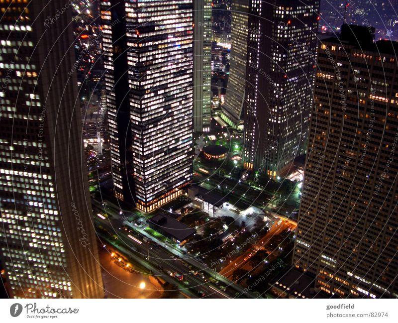 Bright Lighting High-rise Tall Japan Tokyo Night shot