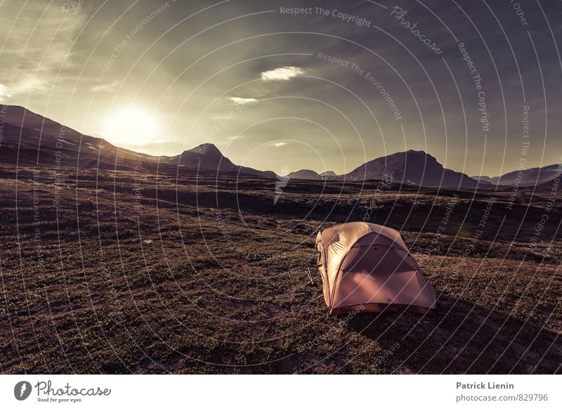 Backpackers Paradise Harmonious Well-being Contentment Senses Relaxation Vacation & Travel Trip Adventure Far-off places Freedom Summer Mountain Environment