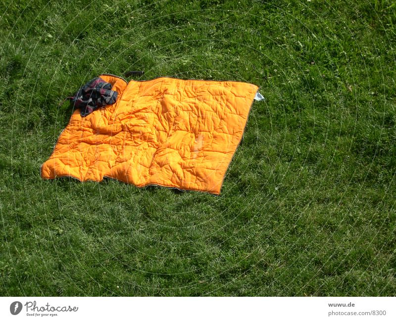 enjoy lying down Sleeping bag Green Meadow Isar Cozy Lie Orange
