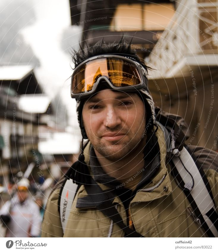The snow can come Skiing goggles Climbing equipment Large aperture Vacation & Travel Brown eyes Sports European Forehead Austria Cold Winter vacation Posture