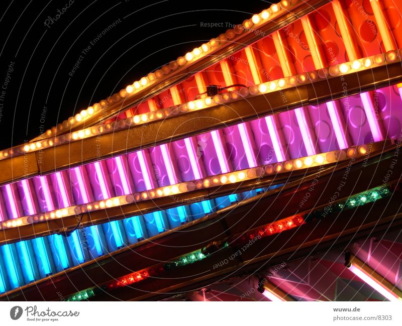 Blue Red Pink Leisure and hobbies Fairs & Carnivals Neon light Night Bumper car
