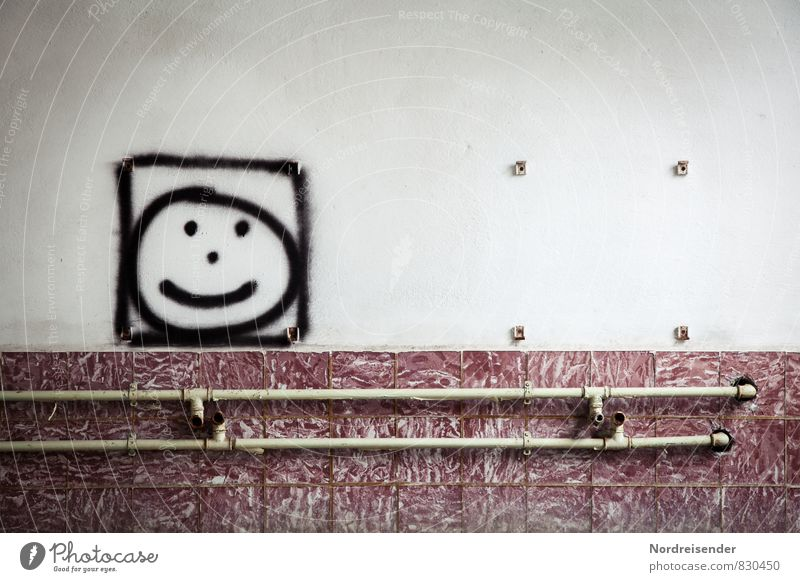 City Wall (building) Graffiti Architecture Funny Wall (barrier) Room Dirty Happiness Smiling Creativity Cool (slang) Friendliness Sign Hope Youth culture