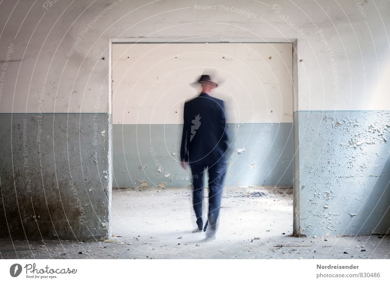 Missing place | Dimension gate Time machine Human being Masculine Man Adults 1 Manmade structures Architecture Wall (barrier) Wall (building) Door