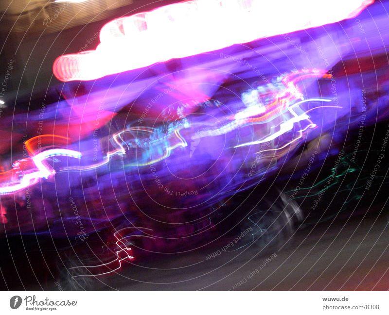 Purple Hurricane Night Violet Whirlwind Long exposure Blur