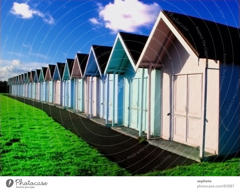 Sky Blue Green Sun Summer Beach Colour House (Residential Structure) Meadow Grass Wood Coast Pink Happiness Illuminate Lawn