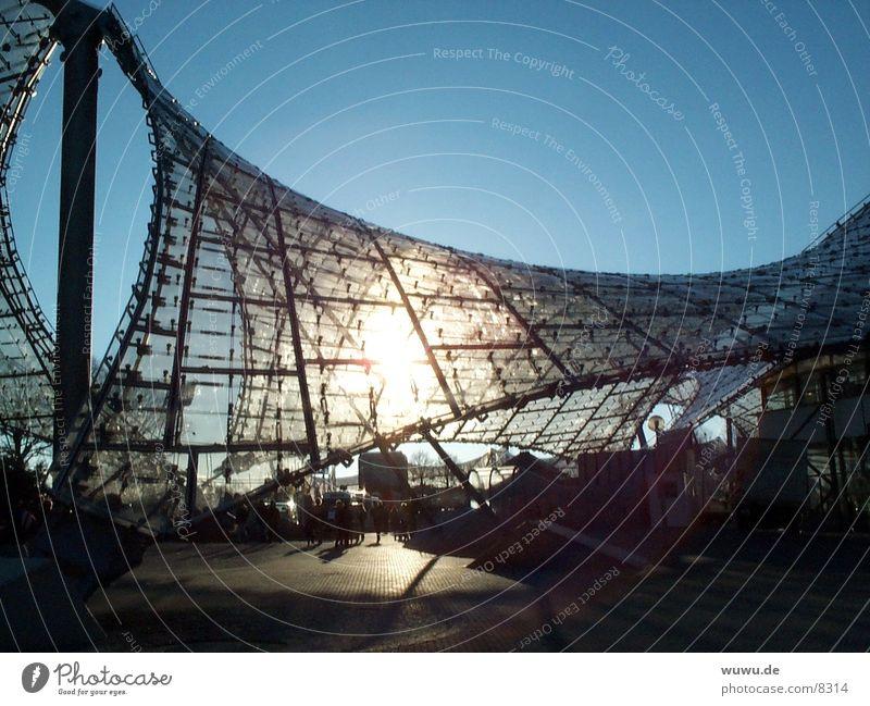 Olympic Park1 Munich Roof Back-light Architecture Behnisch Sun