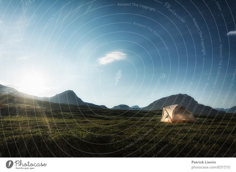 Midnight Sun V Well-being Contentment Senses Relaxation Calm Trip Adventure Far-off places Freedom Expedition Camping Environment Nature Landscape Elements