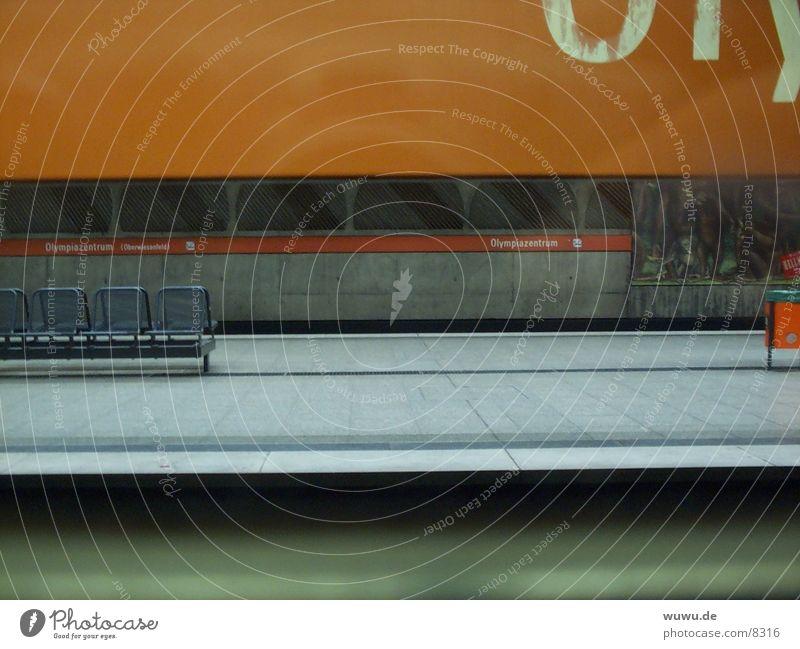 Orange Architecture Munich Underground Platform Olympic Park