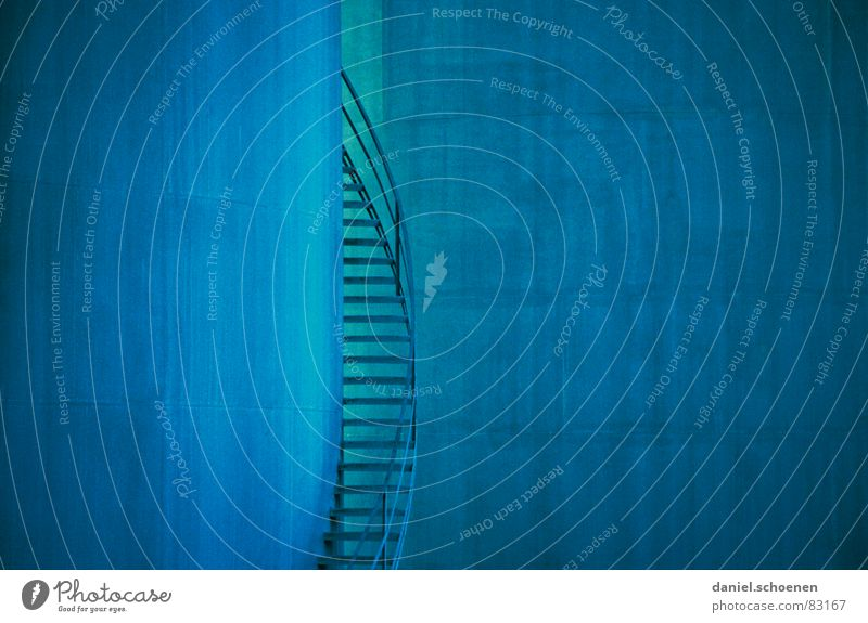 Blue Background picture Industry Stairs Oil Gas Go up Cyan Tank Winding staircase Natural gas Golden section