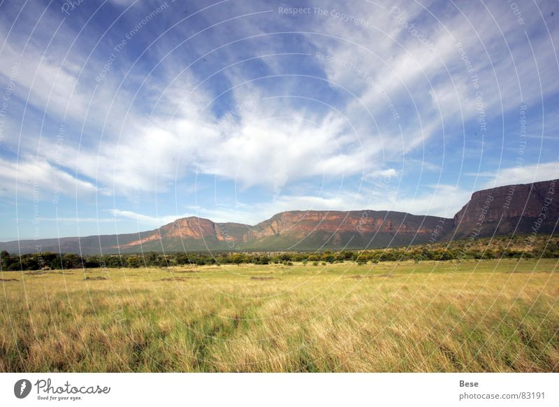 Clouds Mountain Africa National Park South Africa High plateau