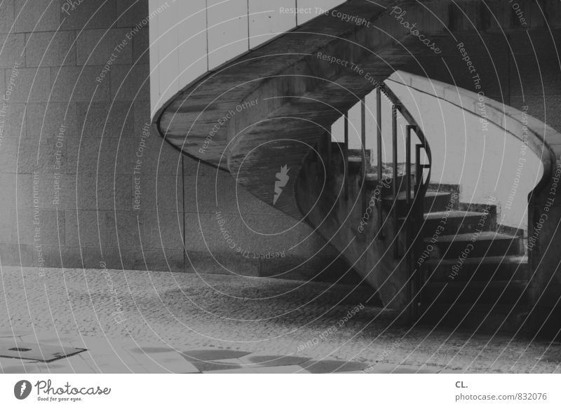 Wall (building) Lanes & trails Architecture Wall (barrier) Stairs Perspective Concrete Change Target Banister Upward Optimism Winding staircase