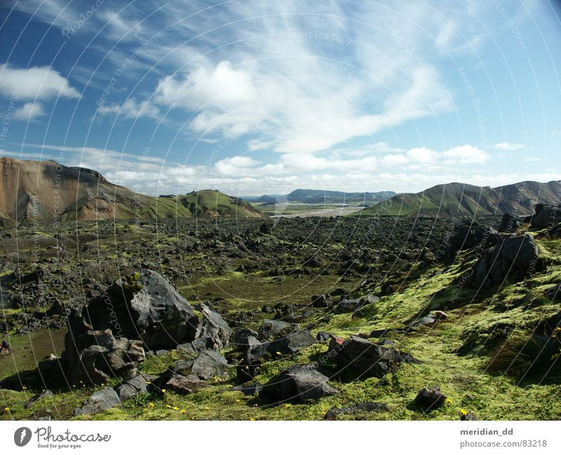 Iceland Stone Clouds Europe Panorama (View) Mountain obsidian Volcano Landscape Nature Vacation & Travel Contrast Large