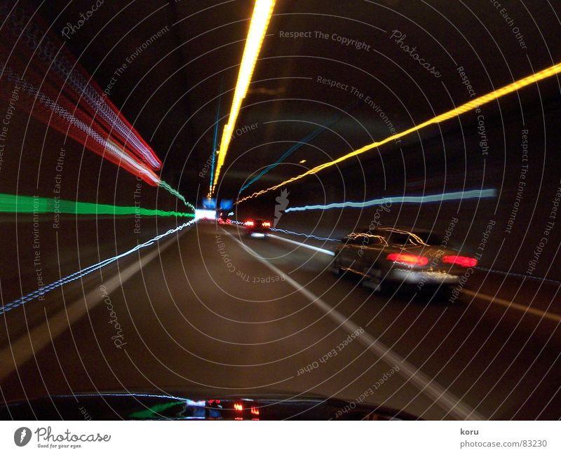 tunnel vision Tunnel Light Speed Dark car Reflection