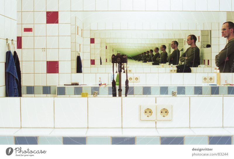 Mirror, mirror, mirror, mirror... Washhouse Continue Reflection Infinity Countless Bathroom Mirror image continued Perspective visualization unceasing Repeating