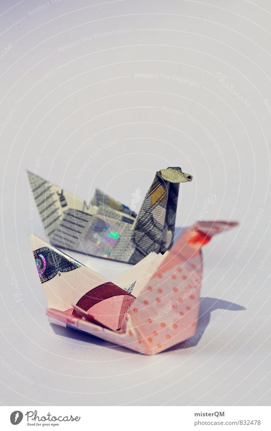 Art Bird Europe Esthetic Money Bank note Work of art Financial Industry Crane Folded Capitalism Financial backer Home-made Monetary capital Donation