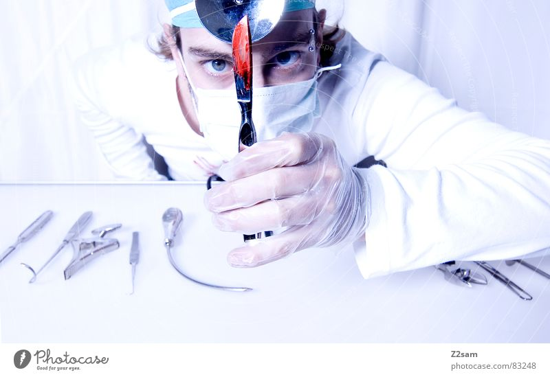 "doctor ""kuddl""- scalpel Doctor Hospital Surgeon Scalpel Health care Mask Mirror Gloves Operation Cut Tool sterile clean protective hood stetoscope Blood"