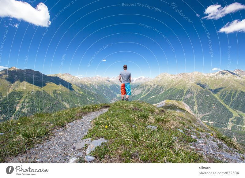 great view #1 Trip Adventure Freedom Hiking Sports Masculine Man Adults Human being 18 - 30 years Youth (Young adults) Landscape Sky Clouds Horizon Summer