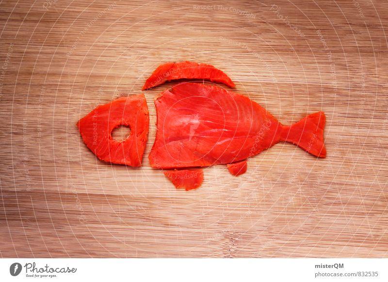 Fish friend. Lousy salmon. Art Esthetic Fishery Fisheye Fish dish Salmon Salmon filet Salmon breeding Healthy Nutrition Swimming & Bathing Red Pink Idea