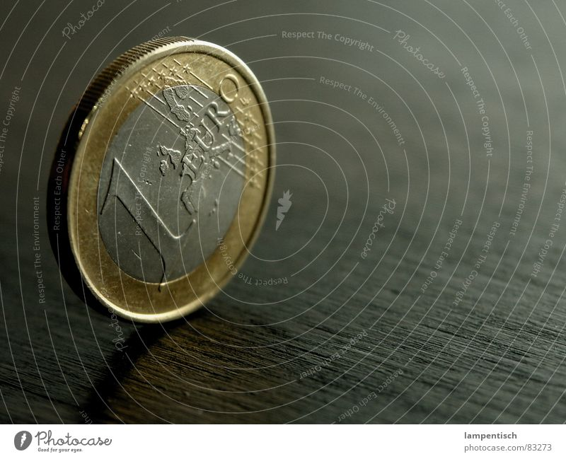 Euro Money Coin Financial Industry Income 1 Wood Table Business