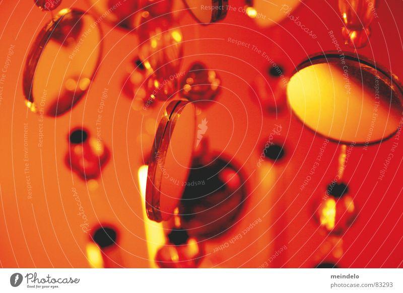 Red Playing Glass Round Mirror Sphere Vegetable Pendulum Oregano