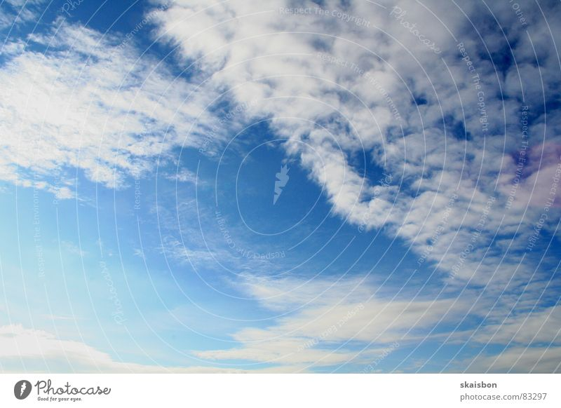 Nature Sky Blue Clouds Far-off places Above Freedom Moody Background picture Wind Weather Aviation Peace Infinity Deep Pull
