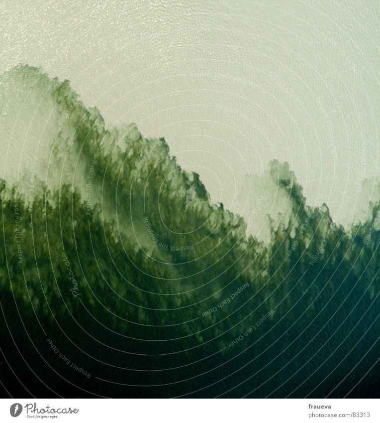 Water Green Background picture River Clarity Painting and drawing (object) Deep Mixture Dreary Section of image Mix Algae Current Niederbayern Danube Surface of water