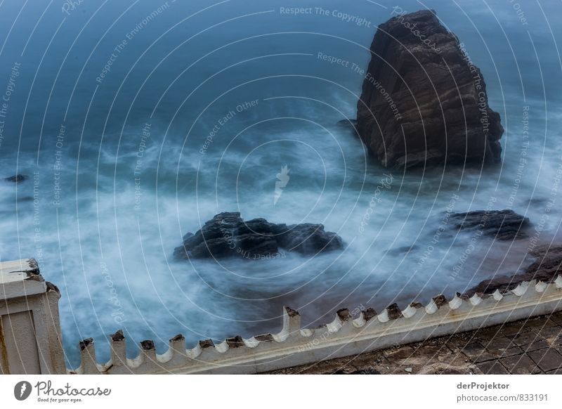 Nature Vacation & Travel Blue Summer Ocean Landscape Beach Environment Wall (building) Emotions Coast Wall (barrier) Rock Waves Tourism Elements