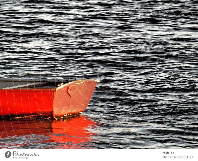 He's got a bright red..... Above Bottle Wet Red Watercraft Rowboat Waves Splashing Mirror Rheingau Eltville Watertight Navigation Waterway Weigh Stagger