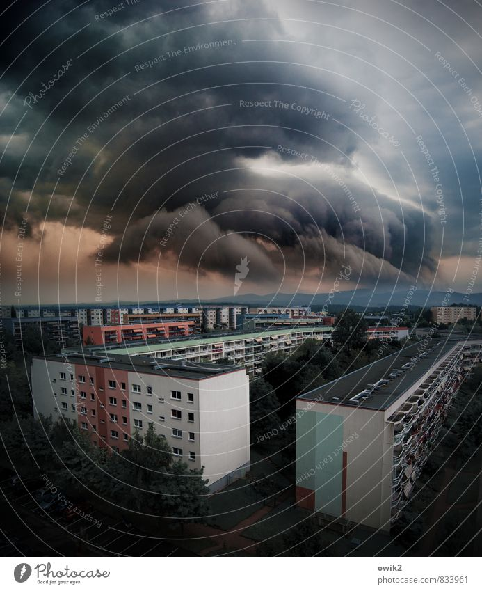 Nature House (Residential Structure) Dark Window Wall (building) Wall (barrier) Germany Facade Horizon Weather Air Large Threat Elements Balcony Gale