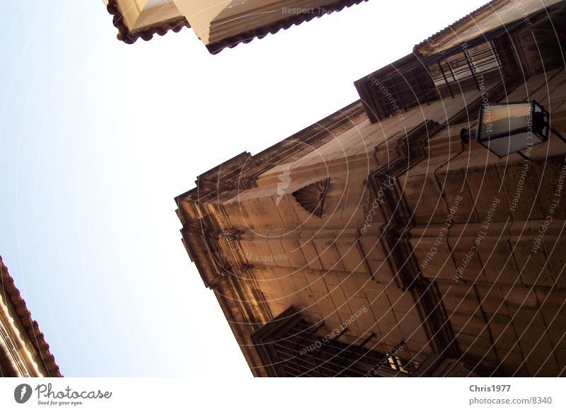 cross Barcelona Historic Mixture Perspective Corner Old Old building House (Residential Structure) Worm's-eye view